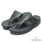 CUMAR 舒適樂活 多密度大底舒適夾腳鞋-黑色