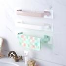 (限宅配)北歐浴室廚房置物掛架毛巾架 浴巾架 免釘免鑽置物架 無痕貼