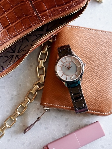 NATURALLY JOJO 優雅時尚黑陶瓷 手錶 JO96970-85F 玫瑰金/36mm