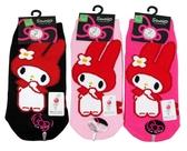 【卡漫城】 美樂蒂 襪子 三雙一組 22~24cm 二款選一 ㊣版 台灣製 My Melody 直板襪 短襪 棉襪