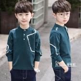 男童長袖t恤男孩大童兒童秋裝上衣打底衫春秋新款秋款潮洋氣8 Korea時尚記