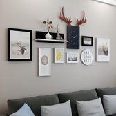照片墻裝飾北歐相框墻組合鐘表客廳臥室創意相冊相片掛墻現代簡約  熊熊物語