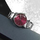 CK / K2G2G14P / 極簡風格 都會時尚 瑞士製造 不鏽鋼手錶 酒紅色 43mm