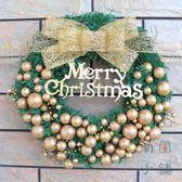 聖誕節花環聖誕樹門掛藤環裝飾品【南風小舖】