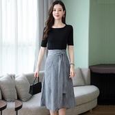 洋裝 韓版流行夏季長款高端a字連身裙 降價兩天