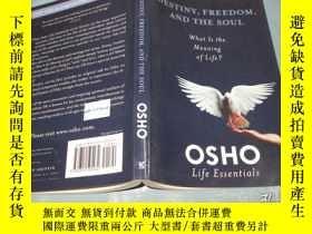 二手書博民逛書店Destiny,罕見Freedom and the Soul 【英文原版 奧修名作 大32開帶DVD一張 品好少見