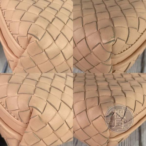 BRAND楓月 Bottega Veneta BV 粉膚編織斜背包 經典編織 淺粉色 肩背包 側背包