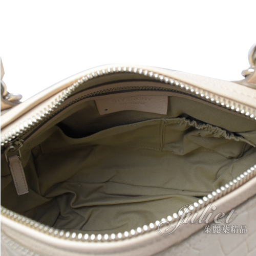 茱麗葉精品【全新現貨】Givenchy 紀梵希 PANDORA 鱷魚皮紋兩用潘朵拉包.粉 中