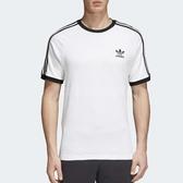 adidas T恤 3 Stripes Tee 白 黑 三條線 三葉草 男款 基本款 短袖上衣 【PUMP306】 CW1203