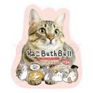 日本NOL 可愛貓可愛喵入浴球/沐浴球(泡澡用品 入浴劑 兒童玩具 沐浴精)