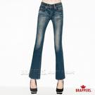 BRAPPERS 女款 新美腳 ROYAL系列-彈性小喇叭褲-藍