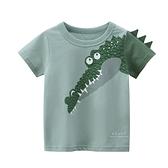 帥氣鱷魚圖案短袖上衣 童裝 短袖上衣