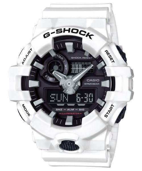 【CASIO】卡西歐 G-SHOCK系列耐衝撞防水200米運動錶 GA-700-7A 宏崑時計 台灣卡西歐保固一年