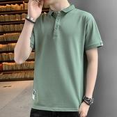 短袖Polo衫 2021夏季短袖t恤男Polo衫翻領半袖衫韓版潮流有帶領寬鬆體恤男裝 非凡小鋪 新品