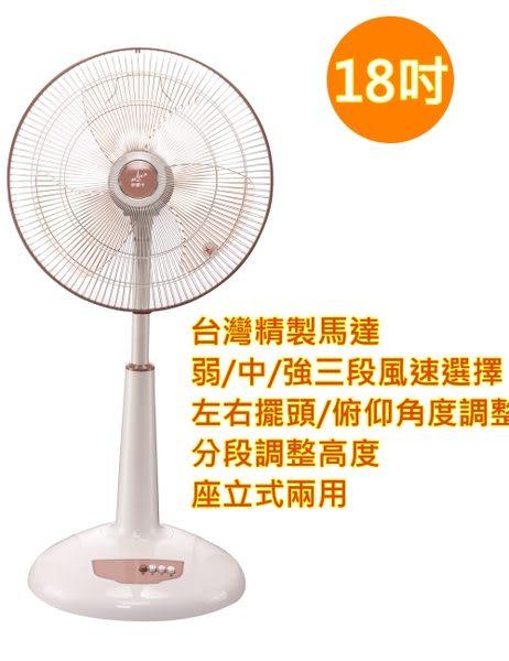 【艾來家電】皇瑩1 8吋營業強風桌立兩用扇 HY-1812