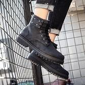 秋季男士馬丁靴韓版潮流短靴高筒男靴子英倫風皮靴百搭機車工裝靴 童趣