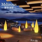 水滴燈七彩充電客廳戶外落地燈網紅酒店裝飾燈 YXS道禾生活館