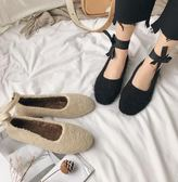 娃娃鞋 正韓學生系帶圓頭平底瑪麗珍娃娃鞋毛毛單瓢鞋女 米蘭潮鞋館