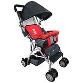 TONYBEAR 可揹式嬰兒三用背架推車-紅色(BJT368R)