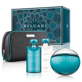 BVLGARI Aqva 寶格麗水能量男性淡香水禮盒 (香水100ml+鬍後乳75ml+沐浴膠75ml)