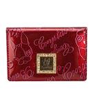 Crystal Ball星砂漆皮壓紋LOGO名片夾(亮紅色)160001-3