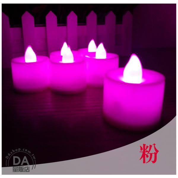【居家任選3件88折】粉紅色 LED 電子 蠟燭 造型燈 裝飾燈 求婚 活動 環保 實用(V50-0830)