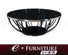 『 e+傢俱 』BT60 利亞納 Liana 造型鏤空 強化玻璃 不繡鋼外框座 時尚大茶几 | 圓茶几