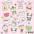 禮品包裝-貓熊(粉紅色)
