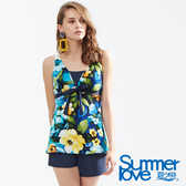 【Summer Love 夏之戀】加大尺碼長版三件式泳衣(S18717)