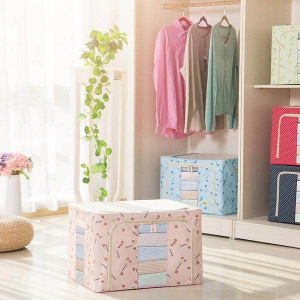 收纳袋品樂扣收納箱牛津布紡整理儲物盒衣物折疊玩具棉被收納袋3件裝