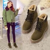 馬丁靴女短靴英倫風2019冬季新款超保暖加絨防滑雪地靴學生女棉鞋