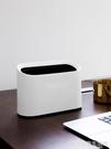 桌面壓圈垃圾桶辦公室桌上塑料垃圾簍家用無蓋垃圾筒小紙簍 完美居家生活館