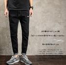 找到自己品牌 時尚潮流 日系 男 刺繡LOGO 小腳褲 牛仔褲 直筒褲 九分褲