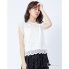 CANTWO唯美蕾絲拼接無袖上衣-二色-白
