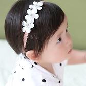 三連花朵彈性髮帶 髮帶 髮飾 花朵 嬰兒 幼兒
