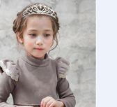 兒童皇冠走秀款發飾女童發箍公主頭箍水金屬閃亮王冠 【限時八五折】