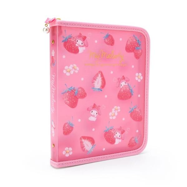 小禮堂 美樂蒂 A5塑膠拉鍊文件袋 透明文件袋 手帳收納袋 文具袋 (粉 幸福女孩) 4550337-37162