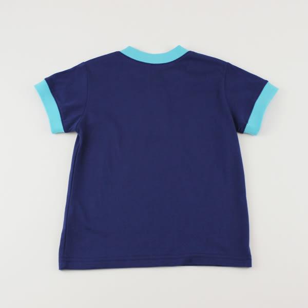 【愛的世界】純棉圓領前釦撞色短袖上衣/6~10歲-台灣製- ★春夏上著 夏日推薦