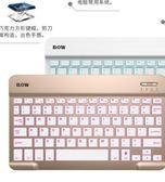 BOW迷你無線藍芽小鍵盤 安卓蘋果ipad平板電腦手機通用靜音便攜薄 夏洛特居家