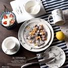 大理石 陶瓷盤子【A447】北歐風格 網美拍照專用 6吋-15.5cm