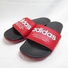 ADIDAS ADILETTE COMFORT 男女款 拖鞋 海綿拖鞋 FX4288 黑紅 大尺碼【iSport愛運動】