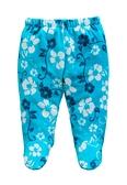 童裝 台灣現貨 保暖天鵝絨寶寶包腳褲-09款藍花【84079】