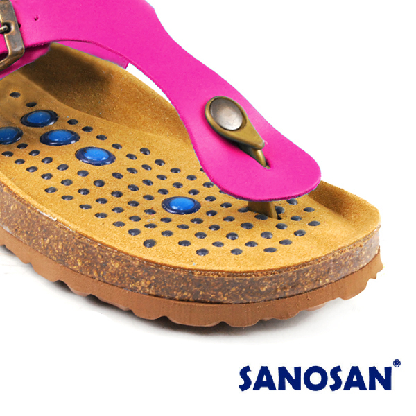 【Sanosan】sietelunas磁氣休閒人字涼拖鞋/女鞋 粉紅色(8801-FUC)