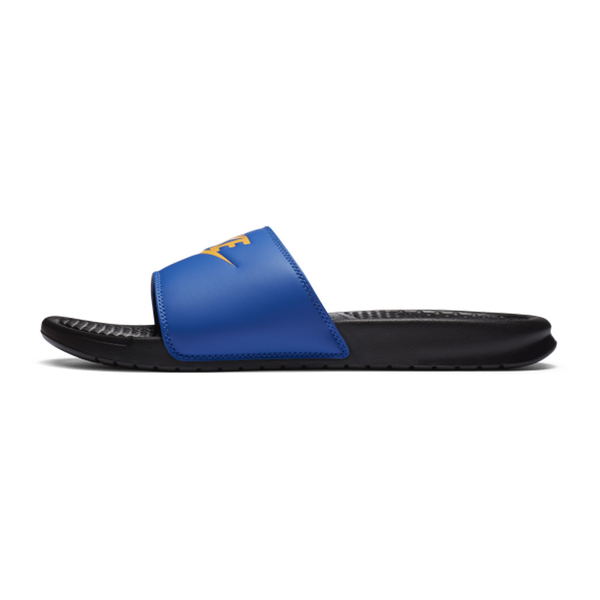 NIKE BENASSI JDI 男鞋 拖鞋 休閒 海綿 陰陽 撞色 藍黃 【運動世界】 343880-035