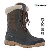 SPIRALE 義大利思佩瑞保暖綁帶 雪靴SPI99231 咖啡色女~買就送保暖羊毛襪~