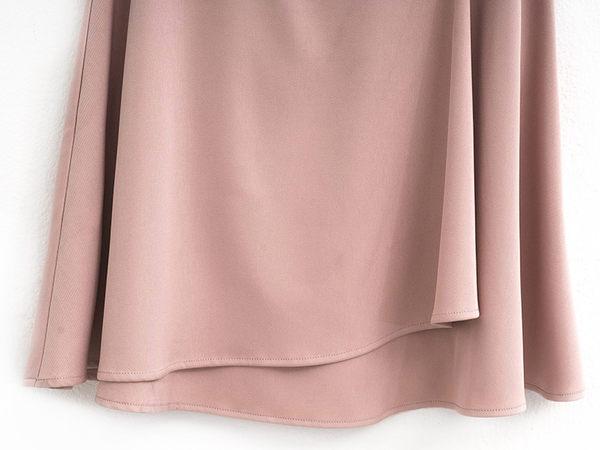 春夏7折[H2O]珍珠裝飾多層次波浪厚雪紡裙 - 白/粉/淺藍色 #9672019
