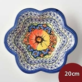 波蘭陶 古典花園系列 花型深盤 20cm 波蘭手工製