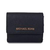 MICHAEL KORS 專櫃款 防刮皮革名片卡片包-黑色