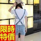 女牛仔吊帶短褲子唯美典型-隨意春夏亮麗美觀單寧褲子56i3【巴黎精品】