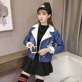 刷毛外套 韓版牛仔外套女冬季寬鬆加絨加厚2018新款西裝領鋪棉外套 DJ2968『易購3c館』